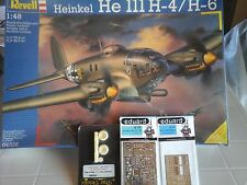 HEINKEL 111 H4/H6 1/48 SCALE REVELL MODEL+N2PHOTOETCHED+RESIN WHEEL SET
