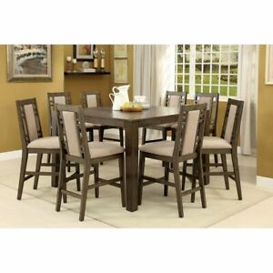 Eris II Transitional Counter Ht. Table with 8 Chairs RETAIL $3522 -FREE SHIPPING