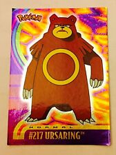carte pokémon Prism Pokémon Topps Trading Card Normal # 217 Ursaring FR