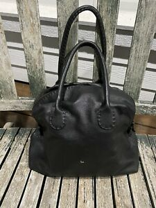 Henry Cuir Beguelin Collector Black Baba Small Bowler tote