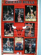 RARE MICHAEL JORDAN CHICAGO BULLS TEAM STARS 1987 VINTAGE ORIGINAL NBA POSTER