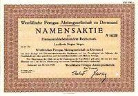 Westfälische FernGas AG Dortmund historische Aktie 1938 RWE Westfalen Gas NRW