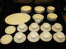 55PC ROYAL M BY YAMAKA ,JAPAN LORI FINE CHINA SET GOLDTRIM-VERY ELEGANT