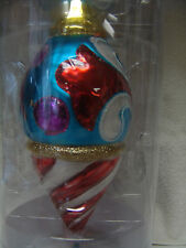 2012 JIM SHORE NEW LARGE GLASS CHRISTMAS ORNAMENT FREE SHIPPING