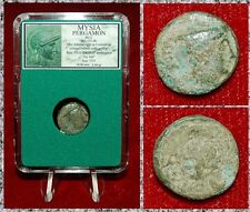 Ancient GREEK Coin MYSIA PERGAMON Athena In CORINTHIAN Helmet And Ivy Leaf