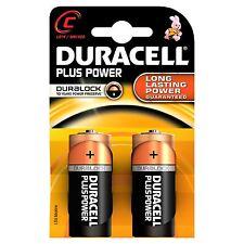 Confezione 2 Pile Batterie Duracell Plus Power C Lr14 Mn1400 Mezze Torce moc