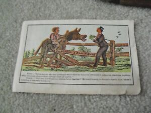 Vintage Late 1800s Large VTC Ad Kendall's Spavin Cure BJ Kendall & Co
