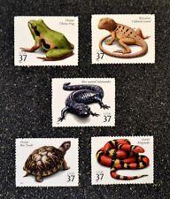 2003USA #3814-3818 37c Reptiles & Amphibians - Set of 5 Singles  Mint NH