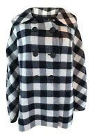 ERMANNO SCERVINO Cashmere Black White Checked Cape Coat (IT 42)