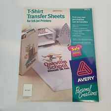 Avery 6271 T Shirt Transfers Iron On Ink Jet White 15 Sheets 8 12x11 New