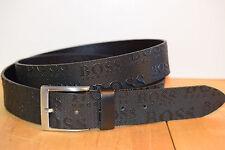 Hugo Boss Herren Gürtel 50213547 TORIALO Leder schwarz 110-42 115cm