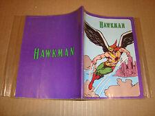 COPRI QUADERNO PLASTIFICATO HAWKMAN DC COMICS 1979 (SUPERMAN - BATMAN - FLASH)