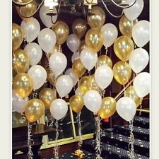 Gold White Balloon Birthday Wedding Party Bride Baby Shower Engaged Latex 11""