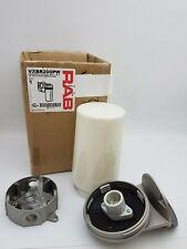 "RAB Lighting VXBR200PW Vaporproof 200 Wall brk 4"" Box 1/2"" w/ White Perma Globe"