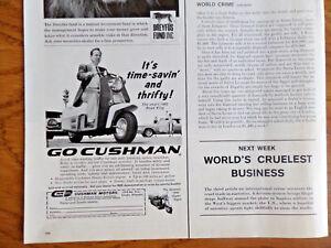 1960 Cushman Road King & Super Eagle Motorcycle Ad