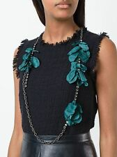 **LANVIN** Gina Floral Strand Crystal and Chain Necklace