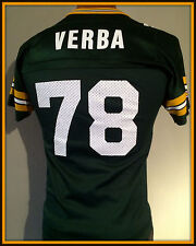 VINTAGE ROSS VERBA GREEN BAY PACKERS REPLICA CHAMPION JERSEY YOUTH MEDIUM 10-12
