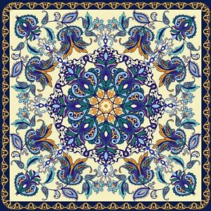 Flower Ornamental Tile Stickers for 6x6 Inches 4x4 and 3x3 tiles ma31