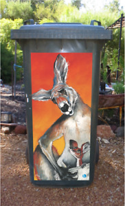 Kangaroo wheelie bin sticker