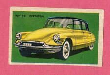 Citroen Vintage 1950s Car Collector Card from Sweden A