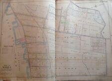 1898 Staten Island Elm Park E. Robinson Original Atlas Map 22x32