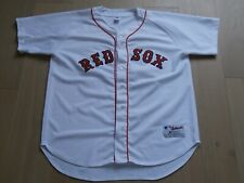 BOSTON RED SOX MLB WHITE SEWN BASEBALL JERSEY RUSSELL ATHLETIC MEN 52
