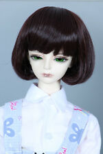"1/3 8-9""LUTS Pullip SD BJD DD LUTS DOD Doll Wig Short Hair red brown"