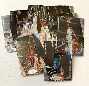 1997 Crash the Game insert lot of 25: Pippen KG DRob Penny Payton Olajuwon Kidd