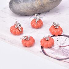 10Pcs/Set Enamel Mini Cute 3D Pumpkin Charms Pendant DIY Jewelry Making CYJIJ