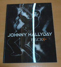 JOHNNY HALLYDAY FLASHBACK TOUR 2006 PROGRAMME ORIGINAL  COUVERTURE RELIEF