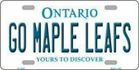 Go Maple Leafs Ontario Canada Background  Novelty License Plate