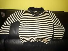Boys jumper, 6 years, by unknown, brown/light brown stripes, new no tag, 100%acr