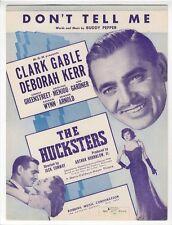CLARK GABLE Sheet Music 1947 Don't Tell Me Deborah Kerr Ava Gardner