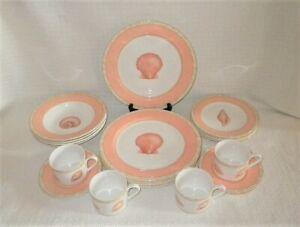 Victoria & Beale Casual ATLANTIS Porcelain China 9044 20 Pc Set/Service for 4