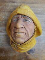 Vintage Bosson's Chalkware Head Life Boatman 1965 England Hand Painted