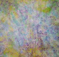 Batik BTY Island Batiks 100% Cotton Fabric Swirl Circles Blue Purple Citron Pink
