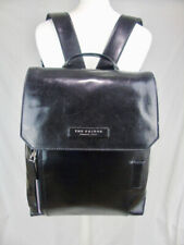 THE BRIDGE *current* large black leather backpack rucksack work bag bag 63616
