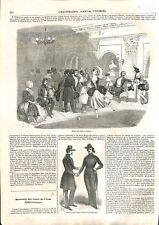 Paris foyer de la danse Opéra / Ouverture cours École polytechnique GRAVURE 1843