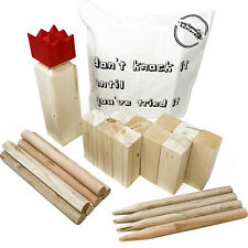 Kubb Viking Chess Throwing Game with Durable Pine Pieces and Cotton Storage Bag