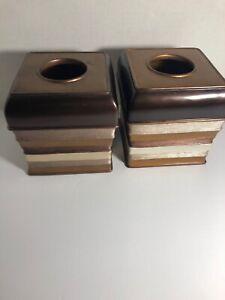 2 Colors Cypress Chocolate Tissue Box Facial Napkin Holder