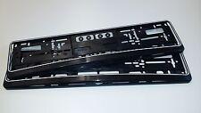 2 x  Kennzeichenhalter, schwarz + weißer Rand,  Nummernschildhalter, Halter