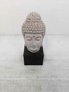 Hand Crafted Stone Wood Buddha Head Zen Meditation Spiritual Décor
