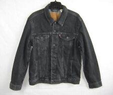 Levi's Mens Trucker Jean Jacket Large Black Premium Denim Slightly Faded
