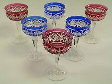 TUDOR Crystal - Coloured Cocktail Glasses - Set of 6