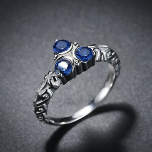 Zelda Breath of the Wild Zora's Sapphire Sterling 925 Silver Engagement Ring
