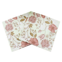 20x wedding party napkin printed flower paper napkin for party supplies decor SP