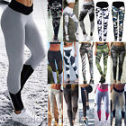 Womens Yoga Fitness Leggings Running Athletic Sports Stretch Long Pants Trousers