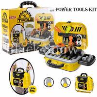 Kids Pretend Play Toy Tool Set Hammer Screw driver Repair Tools Educational Kit