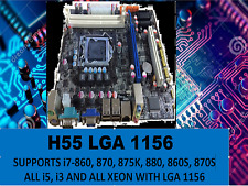 Intel H55 Motherboard LGA1156 MATX DDR3 2 SLOTS MEMORY COMPATIBLE WITH i7/i5/i3