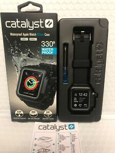 Catalyst - Band & Waterproof Case for Apple Watch 42mm Series 2 & 3 - Black